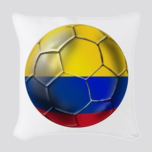 Colombia Soccer Ball Woven Throw Pillow