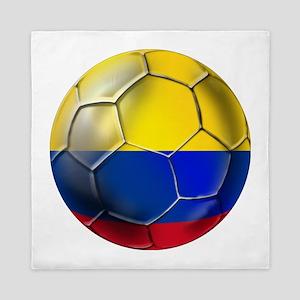 Colombia Soccer Ball Queen Duvet