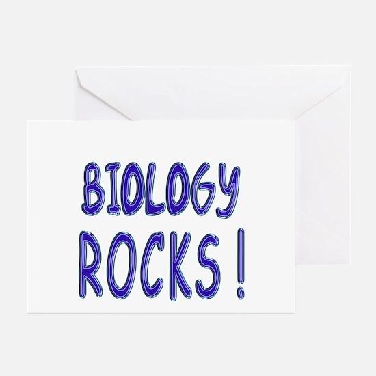 Biology Rocks ! Greeting Cards (Pk of 10)