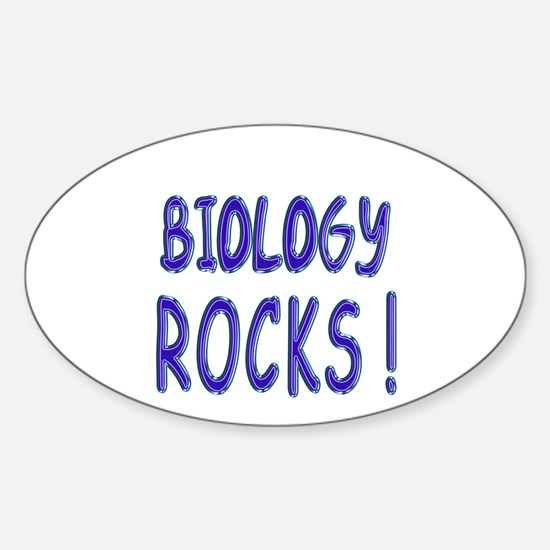 Biology Rocks ! Oval Decal