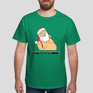 Santa Is Coming Men's Dark T-Shirt