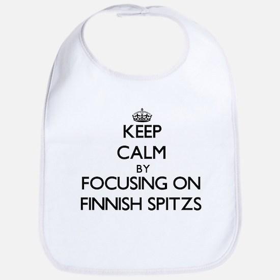 Keep calm by focusing on Finnish Spitzs Bib