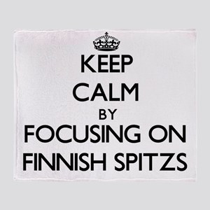 Keep calm by focusing on Finnish Spi Throw Blanket