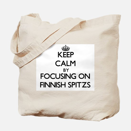 Keep calm by focusing on Finnish Spitzs Tote Bag