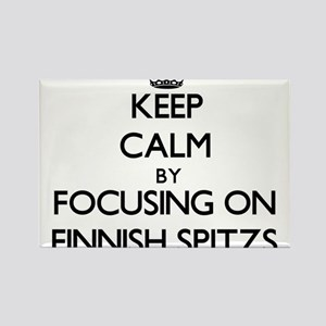Keep calm by focusing on Finnish Spitzs Magnets