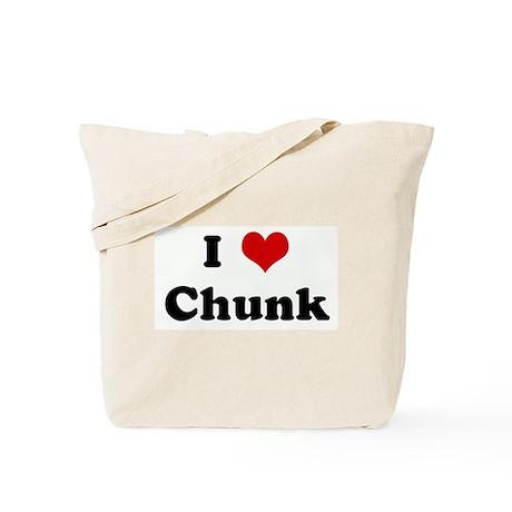 I Love Chunk Tote Bag