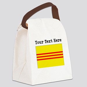 Custom Old South Vietnam Flag Canvas Lunch Bag
