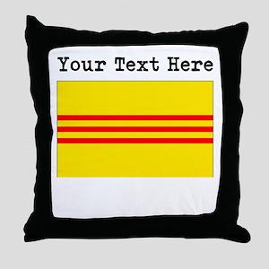 Custom Old South Vietnam Flag Throw Pillow