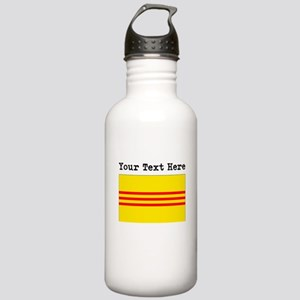 Custom Old South Vietnam Flag Water Bottle