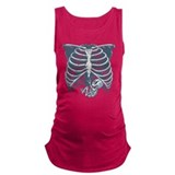 Baby skeleton Dark Maternity Tank Top