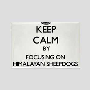 Keep calm by focusing on Himalayan Sheepdo Magnets