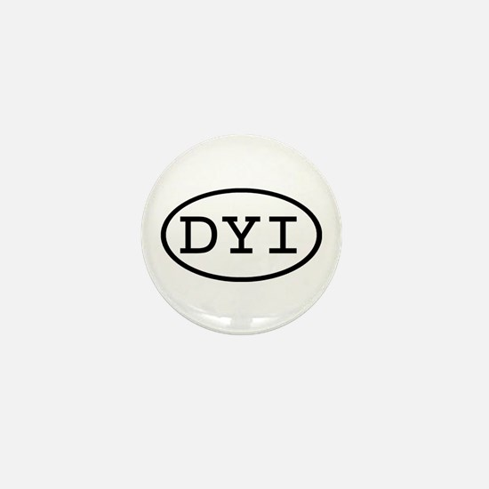 DYI Oval Mini Button