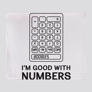 I'm Good With Numbers Throw Blanket