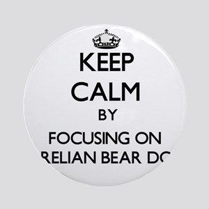 Keep calm by focusing on Karelian Ornament (Round)