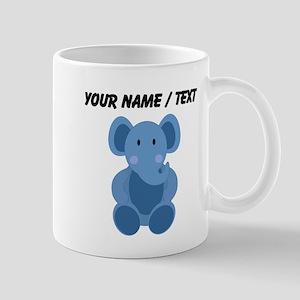 Custom Blue Elephant Mugs