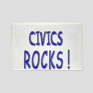 Civics Rocks ! Rectangle Magnet