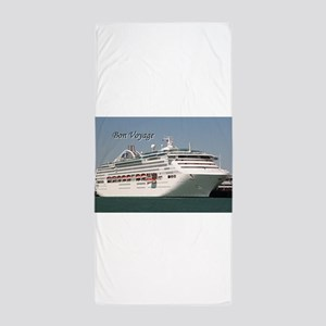 Bon Voyage: cruise ship Beach Towel