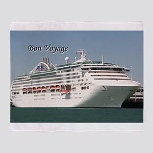 Bon Voyage: cruise ship Throw Blanket
