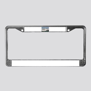 Bon Voyage: cruise ship License Plate Frame