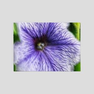 Purple and White petunia 5'x7'Area Rug