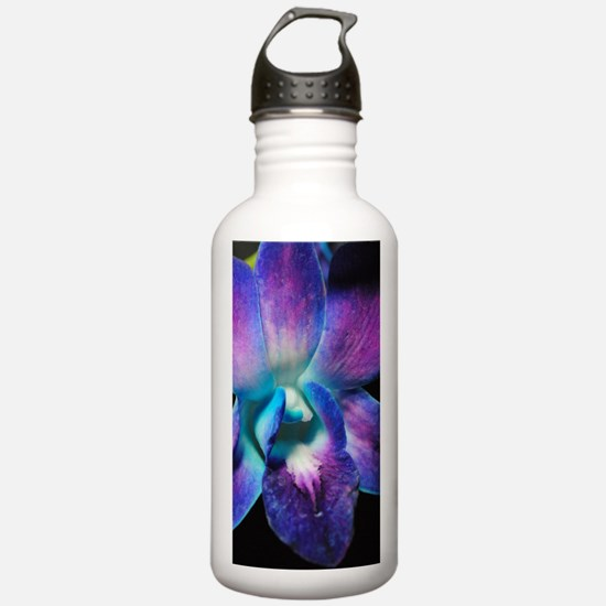Purple Orchid Close Up Water Bottle