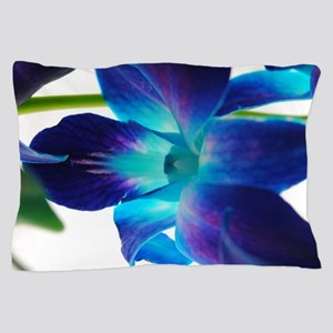 Purple orchid close up on white Pillow Case