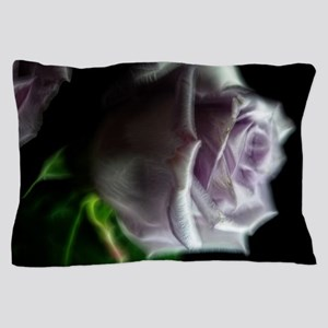 Purple Rose in the dark Pillow Case