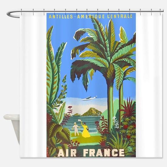Air France Vintage Travel Poster for Antilles Show