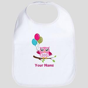 personalized add name Owl Bib