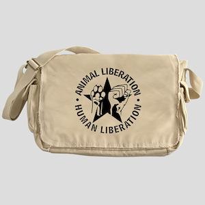 Animal Liberation Human Liberation V Messenger Bag