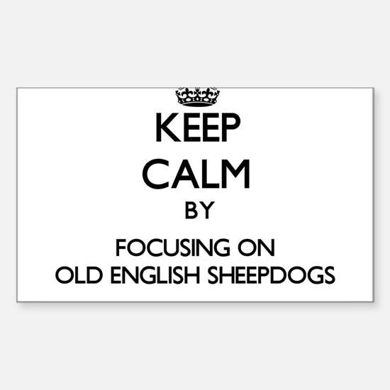 Keep calm by focusing on Old English Sheep Decal