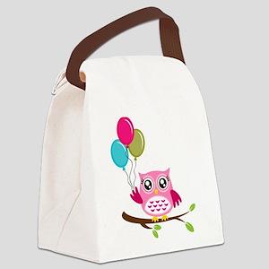 Owl Art Canvas Lunch Bag
