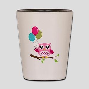 Owl Art Shot Glass