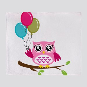 Owl Art Throw Blanket
