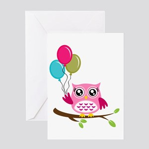 Owl Art Greeting Card