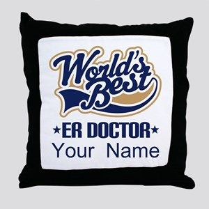 ER Doctor Personalized Throw Pillow