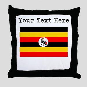 Custom Uganda Flag Throw Pillow