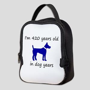 60 dog years blue dog 1C Neoprene Lunch Bag