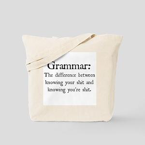 Grammar Differences Tote Bag
