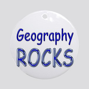 Geography Rocks Ornament (Round)