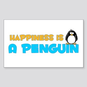 Penguin Happiness Rectangle Sticker