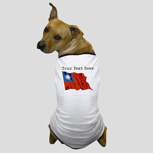 Custom Taiwan Flag Dog T-Shirt