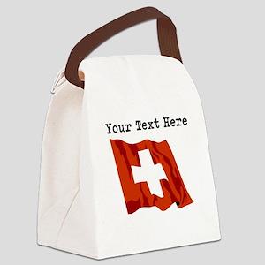 Custom Switzerland Flag Canvas Lunch Bag