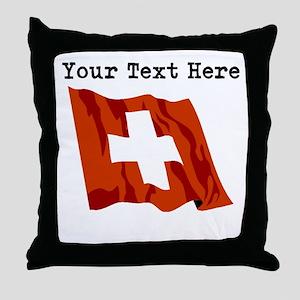 Custom Switzerland Flag Throw Pillow