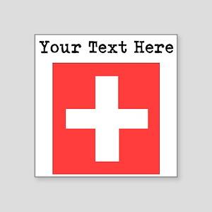 Custom Switzerland Flag Sticker