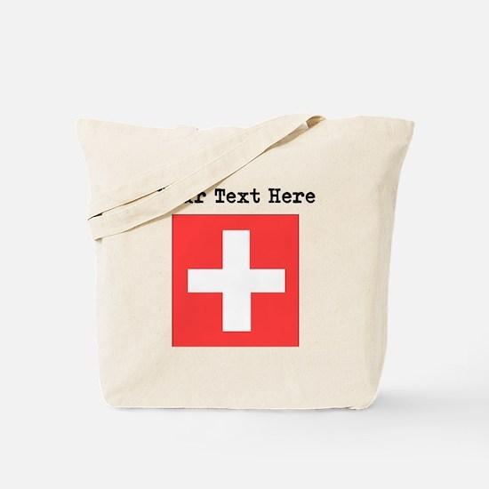 Custom Switzerland Flag Tote Bag