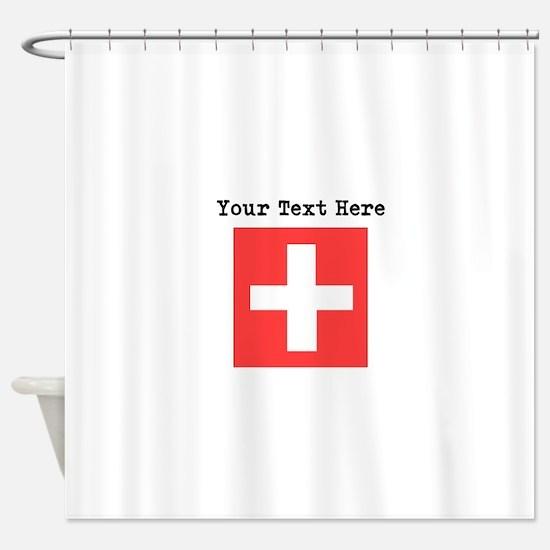Custom Switzerland Flag Shower Curtain