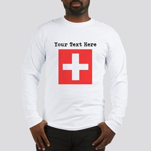 Custom Switzerland Flag Long Sleeve T-Shirt