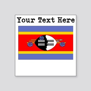 Custom Swaziland Flag Sticker