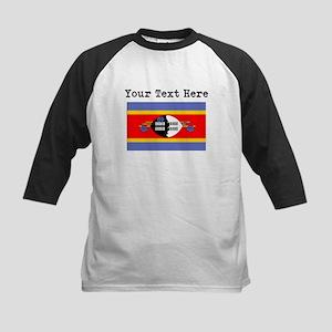 Custom Swaziland Flag Baseball Jersey